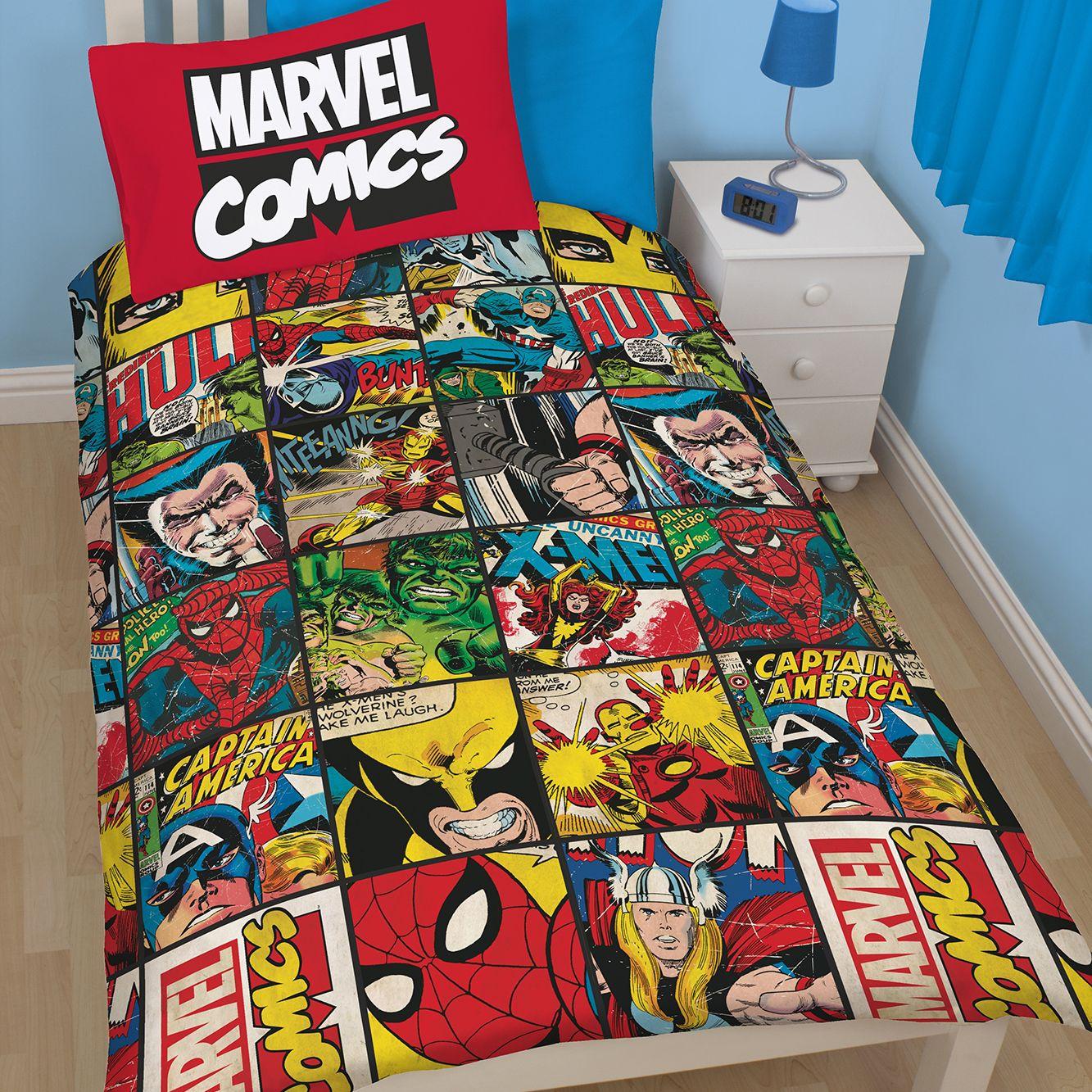 Marvel Defenders Multicolour Single Duvet Set | Departments | DIY ... : marvel quilt - Adamdwight.com