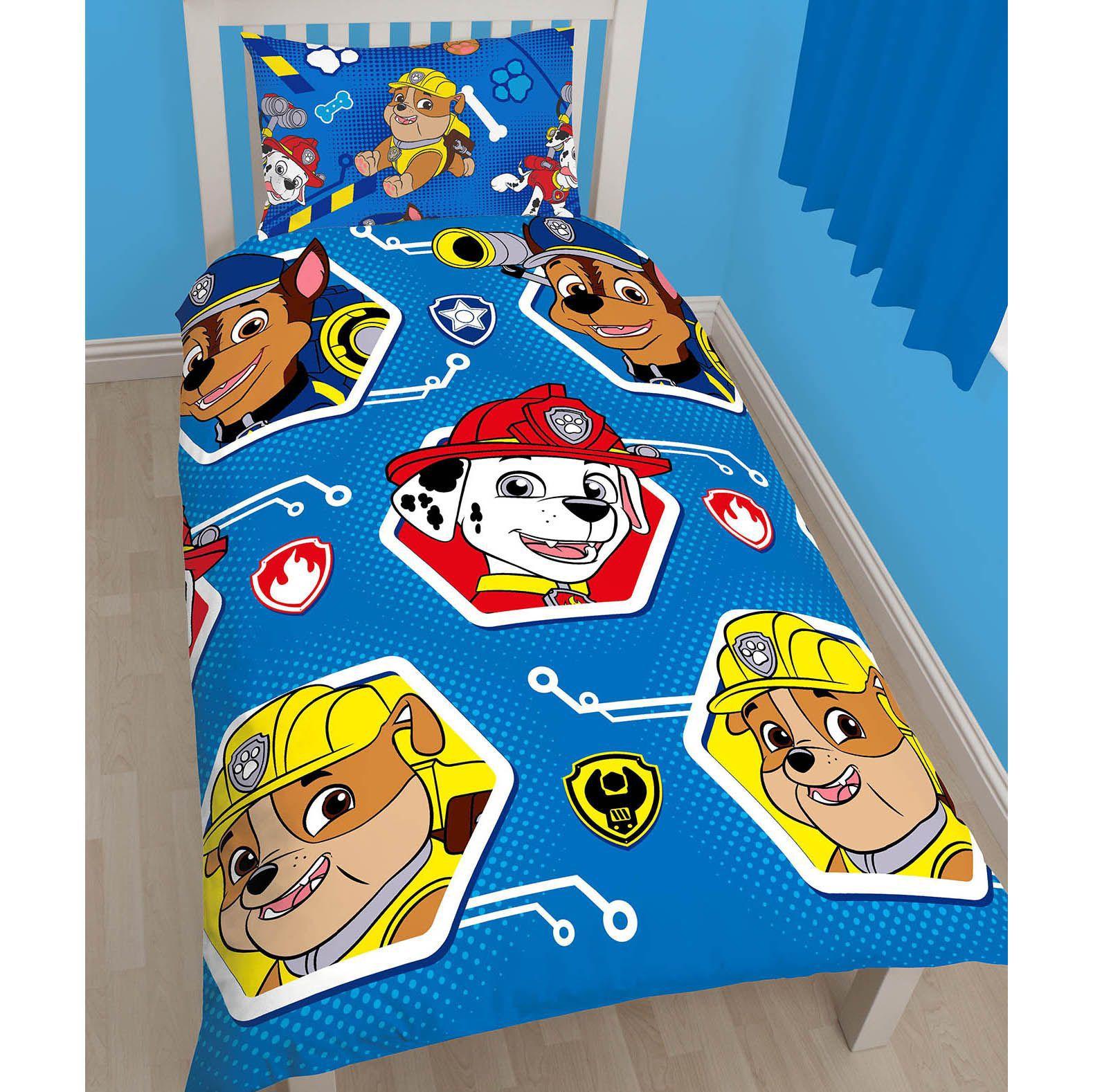 Paw Patrol Multicolour Single Bed set