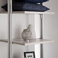 Relax Cream Linen effect Shelf kit (L)900mm (D)330mm