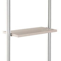 Relax Cream Linen Effect Shelf Kit (L)550mm (D)330mm