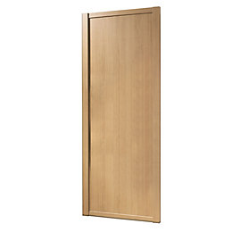 Shaker Natural Oak Effect Sliding Wardrobe Door (H)2220