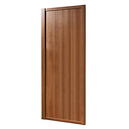 Shaker Natural Walnut Effect Sliding Wardrobe Door (h)2220