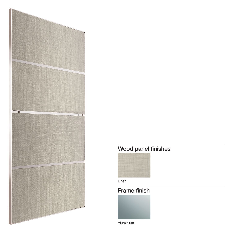 Made to measure minimalist 4 panel linen effect sliding wardrobe made to measure minimalist 4 panel linen effect sliding wardrobe door w741 913mm departments diy at bq junglespirit Images