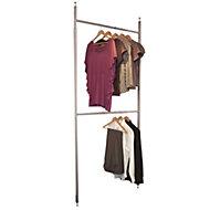 Spacepro Aura Silver & white Metallic effect Wardrobe storage kit (H)2700mm (W)1350mm