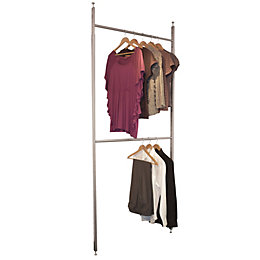 Spacepro Aura Silver & White Wardrobe Storage Kit