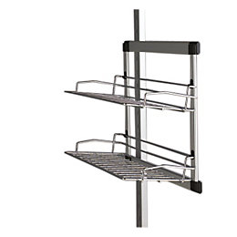 Spacepro Aura Silver Sliding Shoe Rack (W)280mm