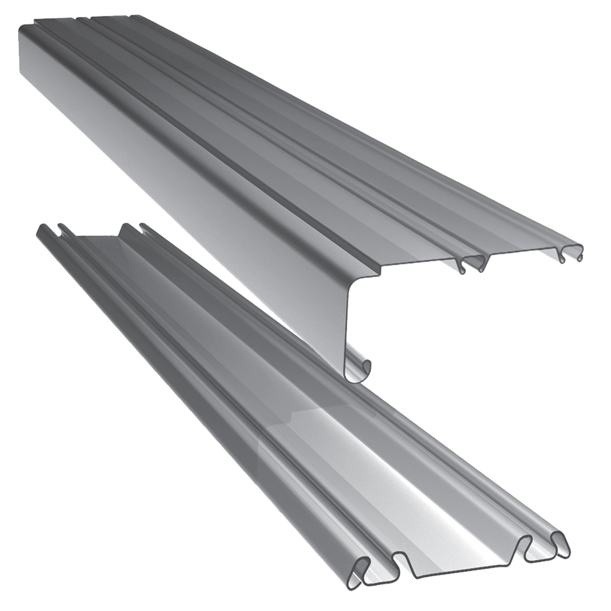 sliding door track standard large silver sliding door track l 10325