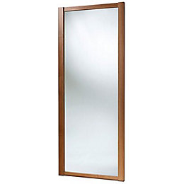Shaker Mirrored Natural Walnut effect Sliding wardrobe door
