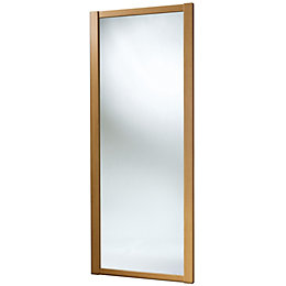 Shaker Mirrored Natural Traditional Oak Effect Sliding Wardrobe