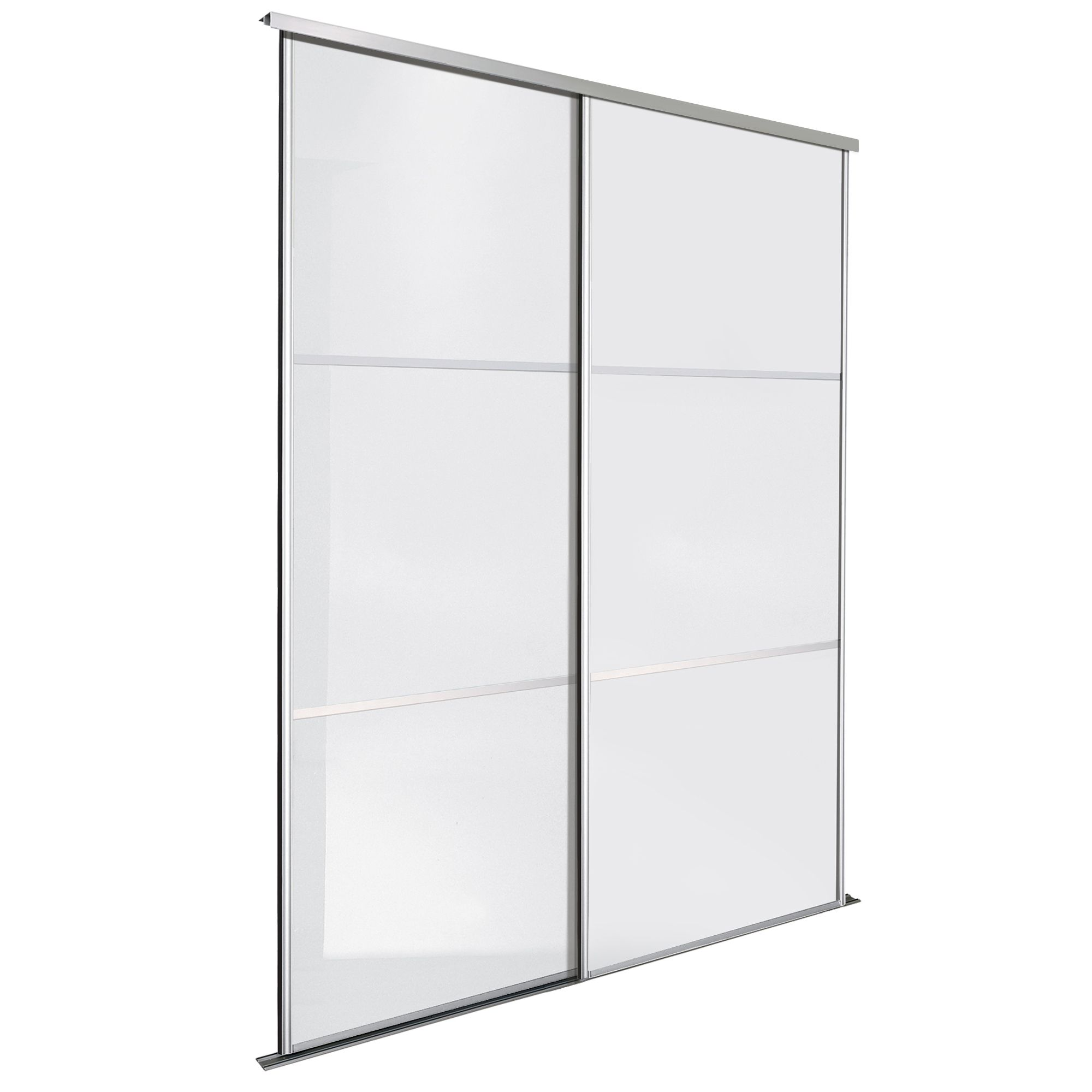 Premium Select Premium Select White Glass Effect Sliding ...