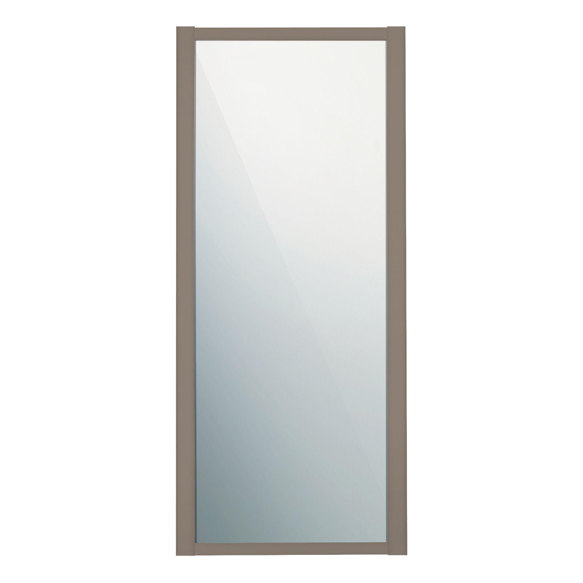 Door >> Traditional Stone Grey Mirror Sliding Wardrobe Door (W)914 mm | Departments | TradePoint