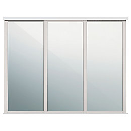 Shaker Mirrored Cashmere Sliding wardrobe door (W)610mm, Pack