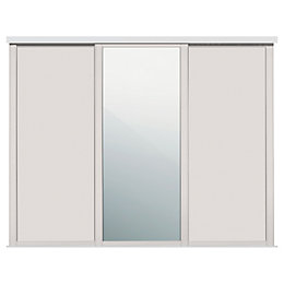 Shaker Mirrored Cashmere Sliding wardrobe door (W)762mm, Pack