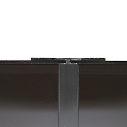 Vistelle Black Shower Panelling Straight H Joint (L)2500mm