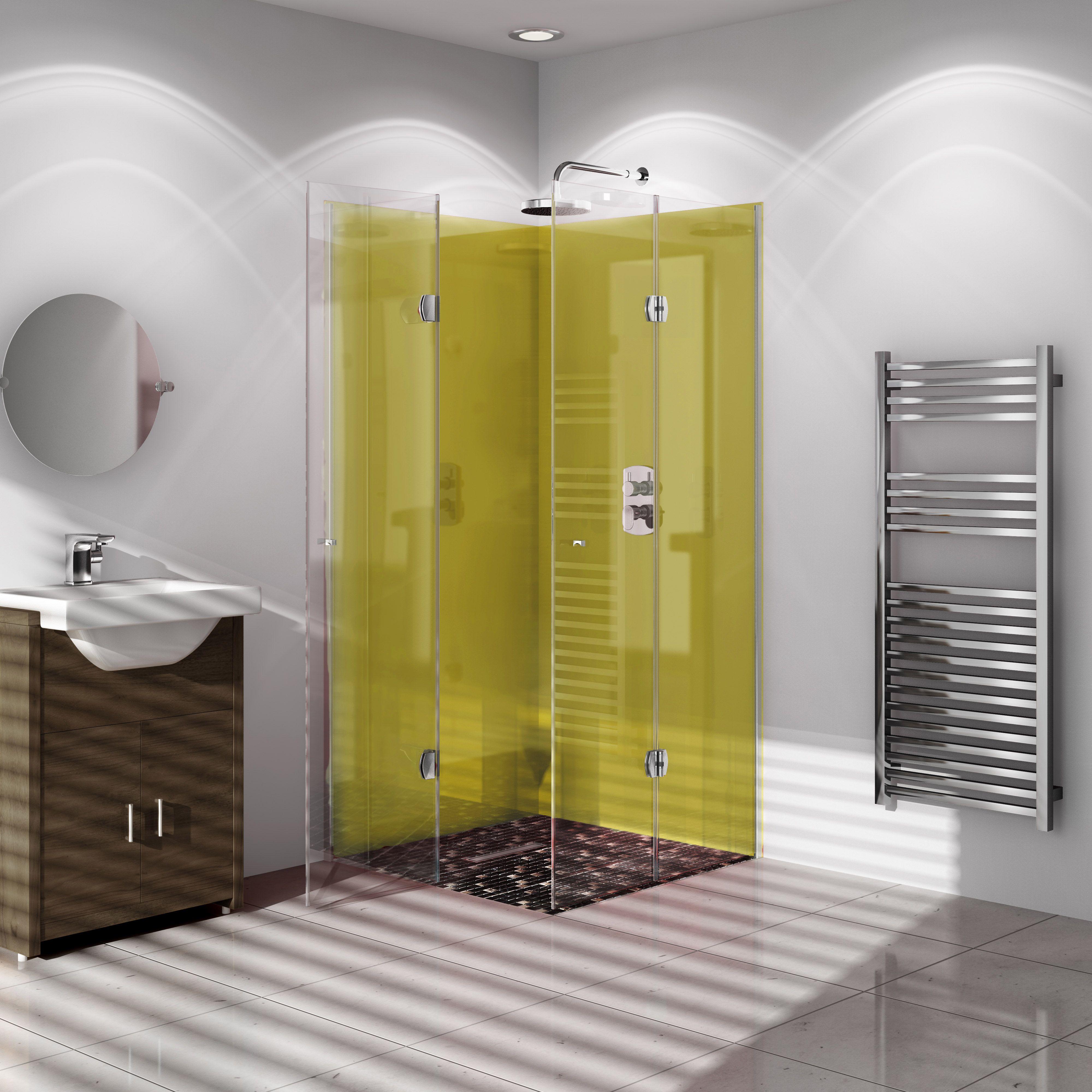 Vistelle Forest Single Shower Panel L 2 07m W 1m T 4mm Departments Diy At B Amp Q