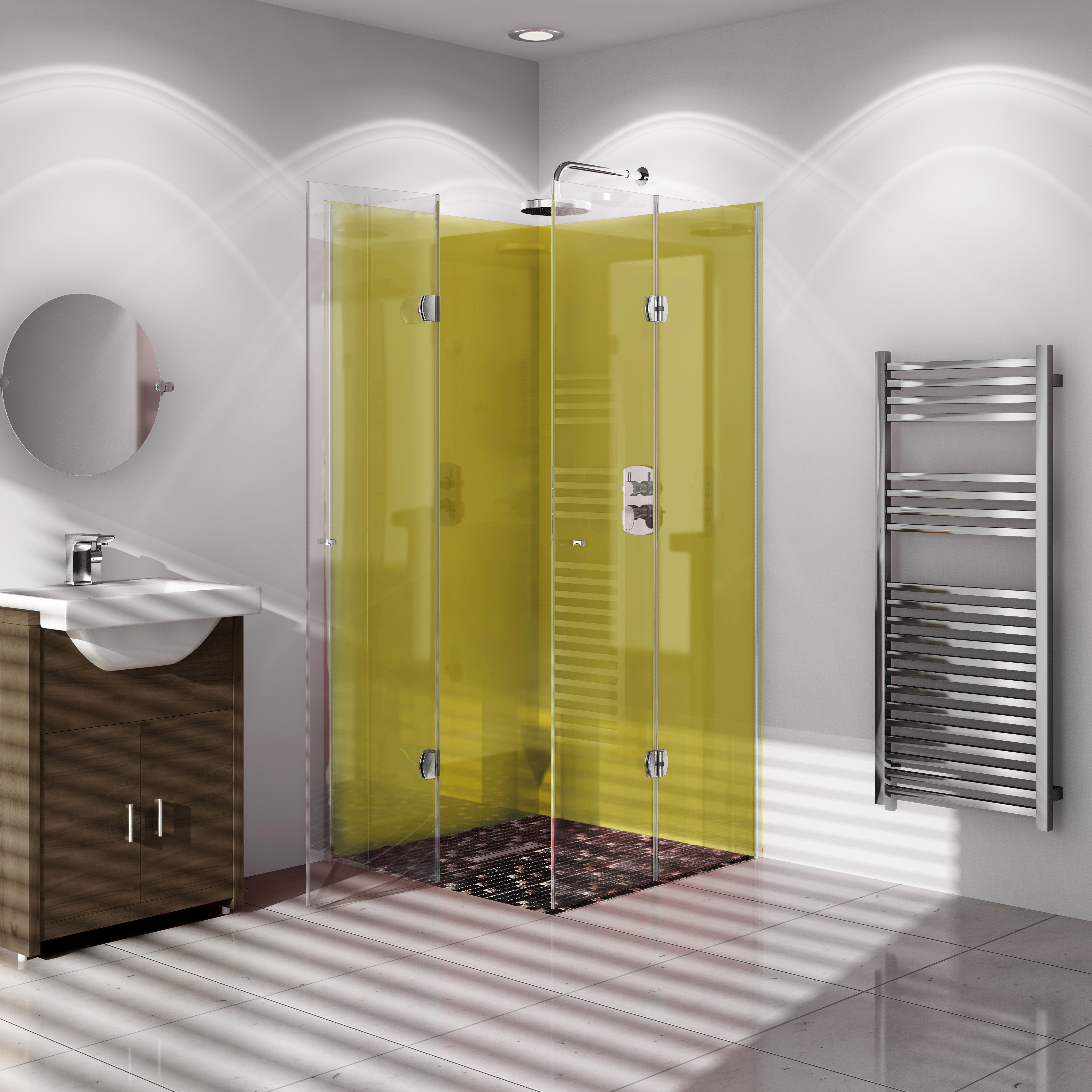 Vistelle Forest Single Shower Panel (L)2.44m (W)1m (T)4mm