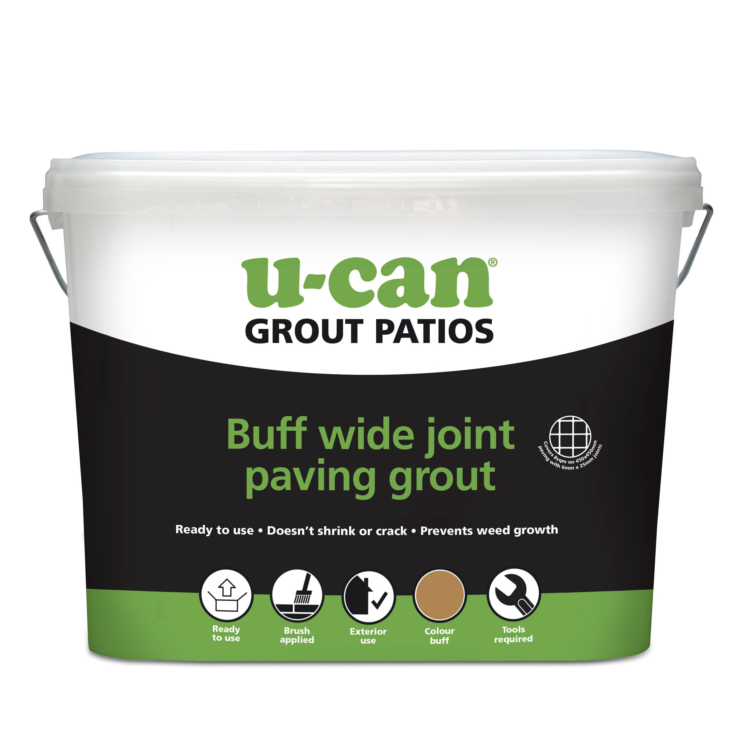 U-Can Ready to use Wide joint paving grout 10kg | Departments | DIY at B&Q