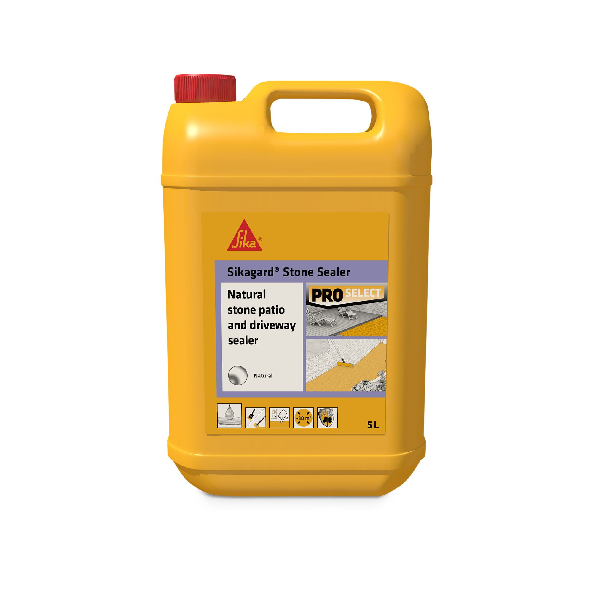 Sika Natural Stone Patio & driveway sealer 5L | Departments | DIY at B&Q