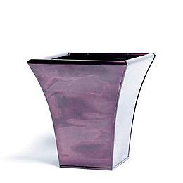 Universal Square Glazed Metal Copper Effect Plant Pot
