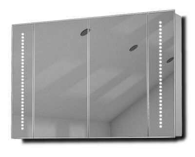 Illuminated Mirrored Bathroom Cabinet Ip44 Rated: Diamond X Collection Star Demist Audio Illuminated