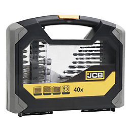 JCB Combination Drill & Bit Set, 40 Pieces