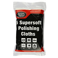 AutoPro accessories Cotton Polishing cloth, Pack of 5