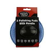AutoPro accessories Microfibre Polishing pads, Pack of 3
