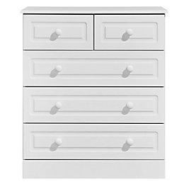 Greenwich White Matt 5 Drawer Chest (H)950mm (W)830mm