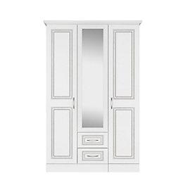 Laysan White Mirror Wardrobe