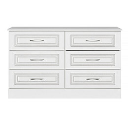 Laysan White 6 Drawer Chest (H)740mm (W)1230mm (D)450mm