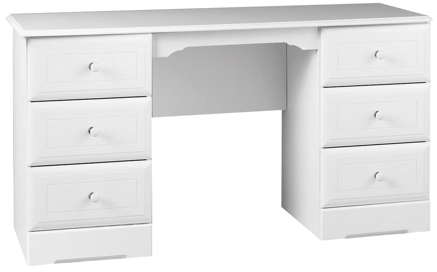 Rocco White 6 Drawer Dressing Table H 740mm W 1400mm Departments Diy At B Q