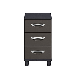 Consort Juno Black & graphite Textured 3 Drawer