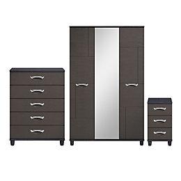 Juno Black 3 Piece Bedroom Furniture Set