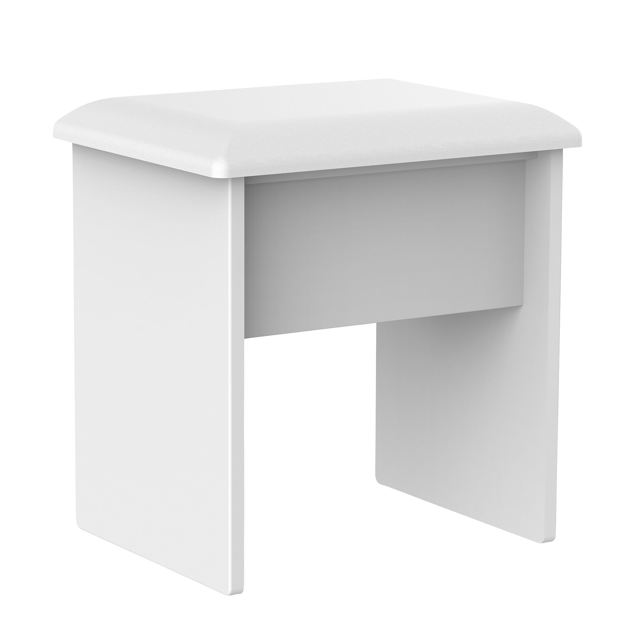 bedroom stool. Rosa White Dressing Table Stool  H 510mm W 480mm Departments DIY at B Q
