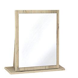 Como Grey & Oak Effect Mirror (H)510mm (W)480mm