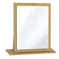 Swift Montana Oak effect Framed Mirror (H)510mm (W) 480mm
