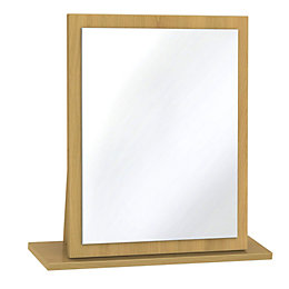 Montana Natural & Oak Effect Mirror (H)510mm (W)480mm