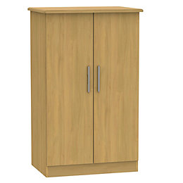 Montana Oak effect 2 door Midi wardrobe (H)1270mm