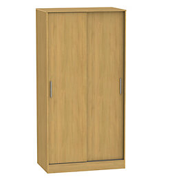 Montana Oak effect 2 door Sliding wardrobe (H)1960mm