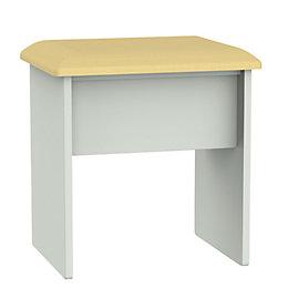 Lugano Grey & Matt Dressing Table Stool (H)510mm