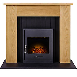 Black LED Manual Control Electric Fire