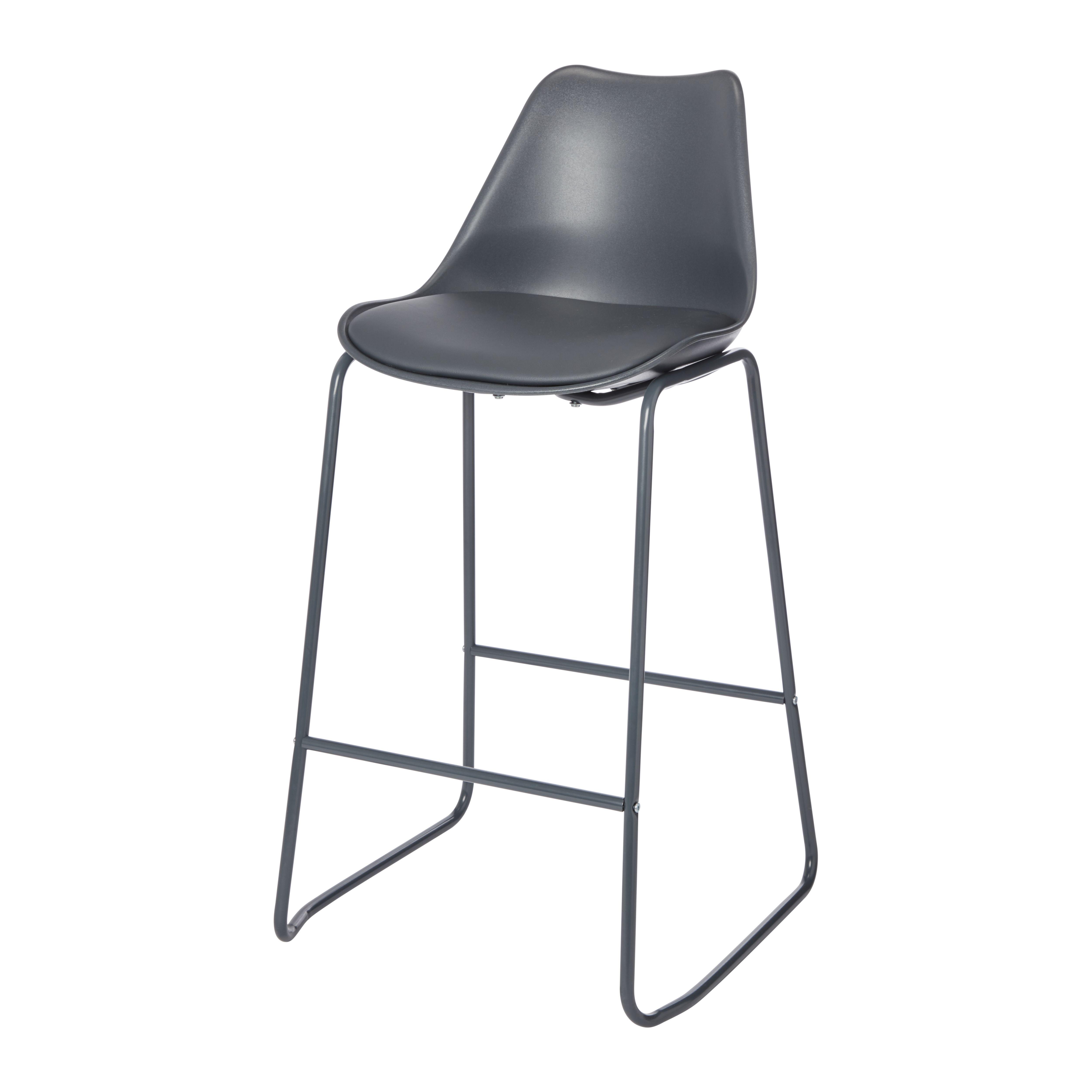 Marula Dark grey Bar stool   Departments   DIY at B&Q