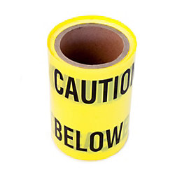 Black & yellow Caution tape (L)50m (W)150mm