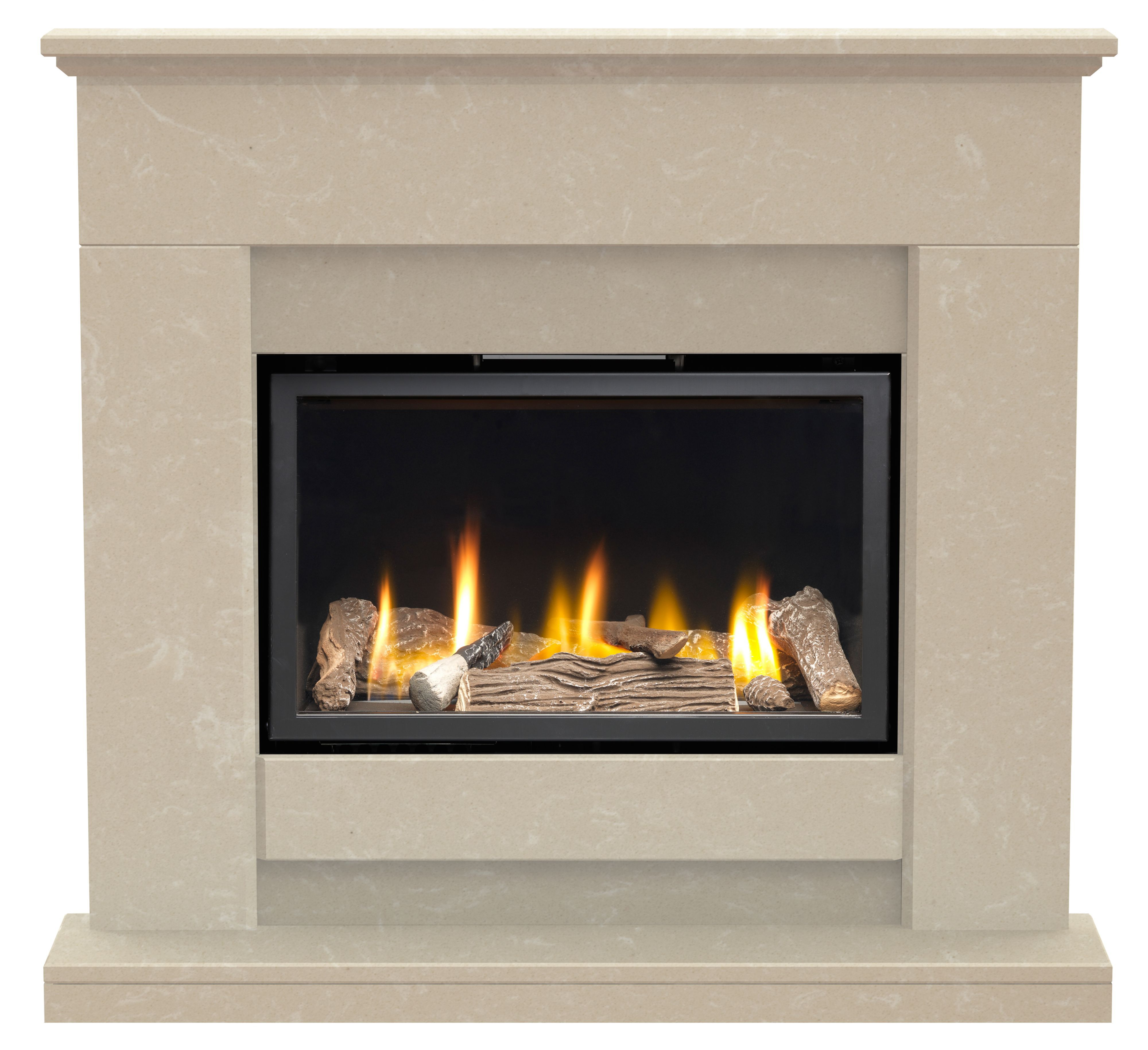 Vacs And Videos >> Elsdon Roman Stone Marble Complete Fire Surround | Departments | DIY at B&Q