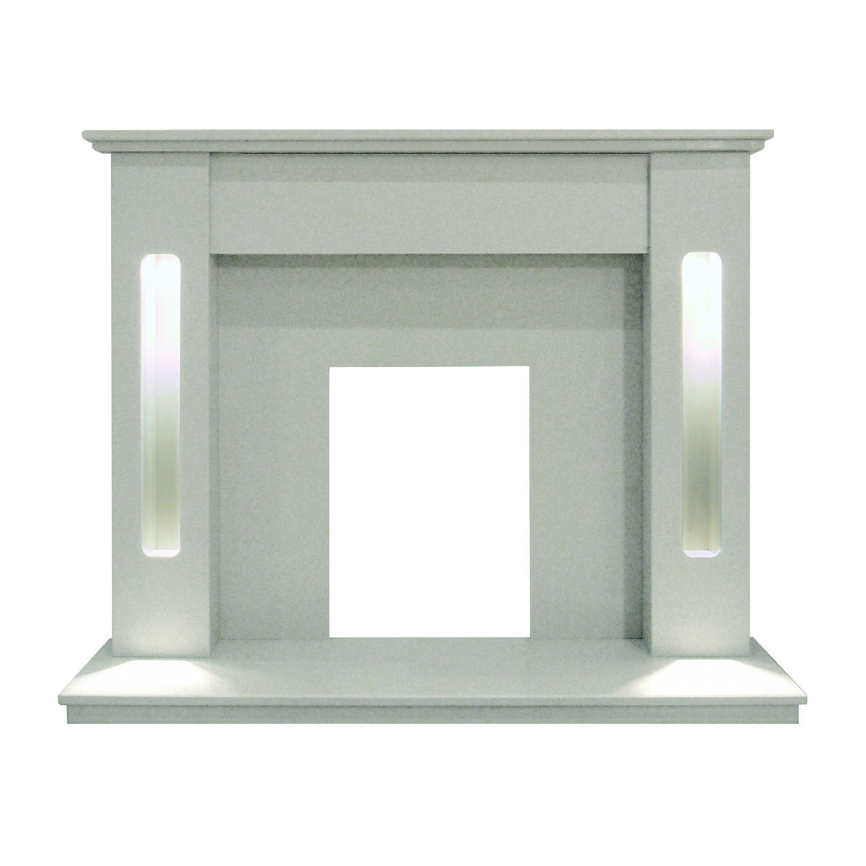 New York Beige Stone Micro Marble Fire Surround