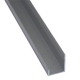 Splashwall Grey Shower panelling end cap (L)2420mm