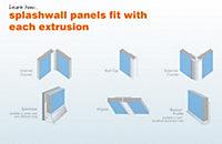 Splashwall Grey Shower panelling external corner (L)2420mm