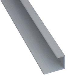 Splashwall White Shower panelling end cap (L)2420mm