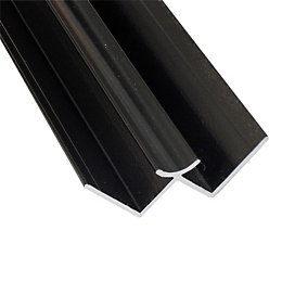 Splashwall Black Shower panelling internal corner (L)2420mm