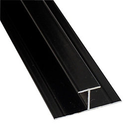 Splashwall Black Shower panelling straight H joint (L)2420mm